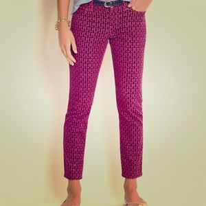 Vineyard Vines pink anchor corduroy pants